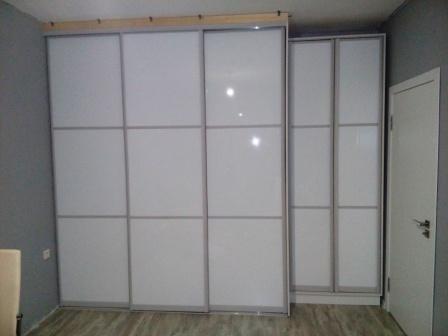 Двери - Морской песок профиль заполнение белый глянец
