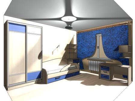 Проект детской комнаты - эскиз предварительный набросок