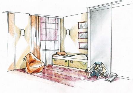 Эскиз детской комнаты