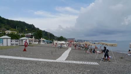 Фотография городского пляжа в Хосте