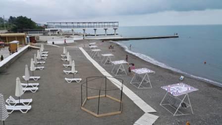Бесплатный городской пляж в Хосте