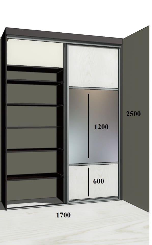 Недорогой встроенный шкаф на заказ - Волжский