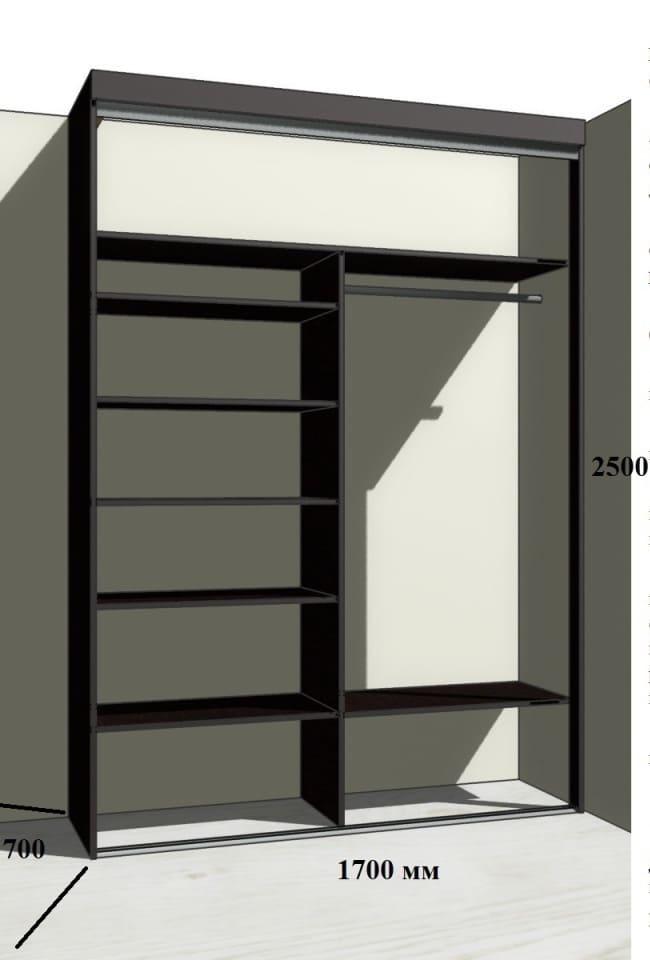 Заполнение встроенного шкафа-купе на заказ