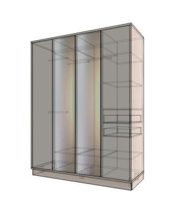 Шкаф отдельно-стоящий с зеркалами