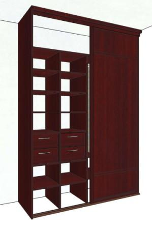 Эскиз шкафа 2-х дверного встроенного