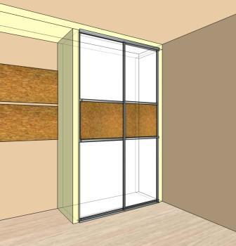 Шкаф встроенный покраска-пробка