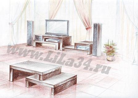Эскиз журнального стола-заказ в Волжском