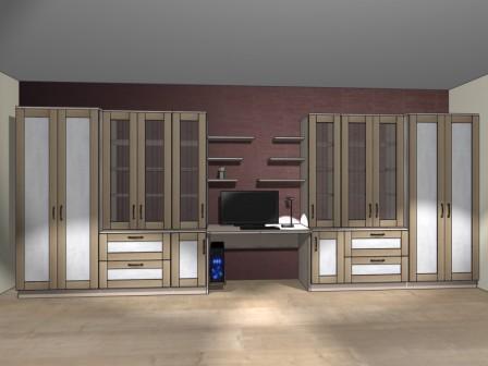 Проект мебели для кабинета на заказ