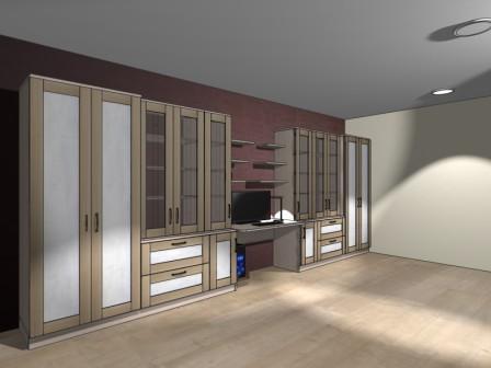 Эскиз мебели для кабинета на заказ