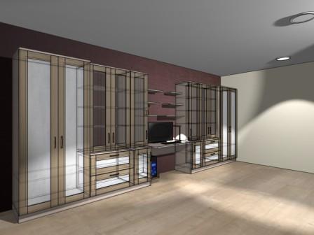 Мебель для кабинета (Ясень Наварра-CLEAF)