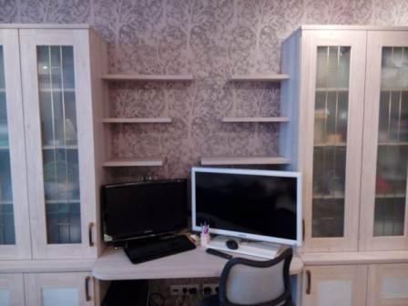 Мебель для кабинета: фасады Cleaf рамочный заполнение ЛДСП FB03 BETON LIGHT Италия