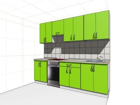 Проект прямой кухни на заказ