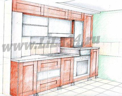 Предварительный эскиз кухни