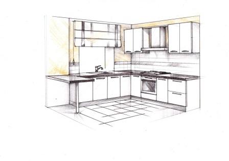 Недорогая кухня в пластике для однокомнатной квартиры
