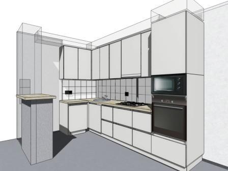 Эскиз угловой кухни на заказ в Волжском