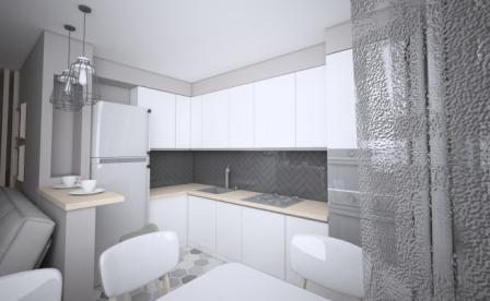 3-D проект угловой кухни Волжский