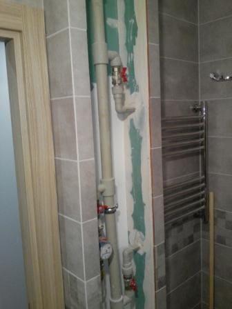 Ниша в ванной перед установкой дверей