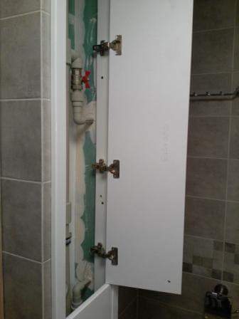 Необходимо было закрыть нишу в ванной комнате