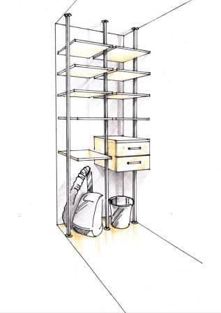 Проект гардеробной комнаты 10
