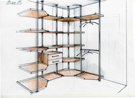 Проект гардеробной комнаты 12