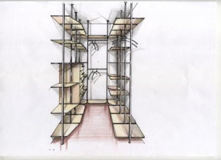 Проект гардеробной комнаты 7