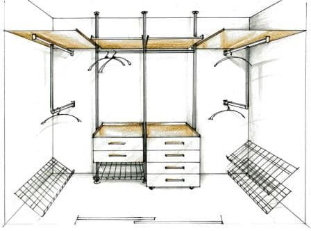 Проект гардеробной комнаты 9