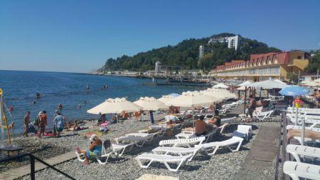 Бесплатный пляж Санатория кавказ
