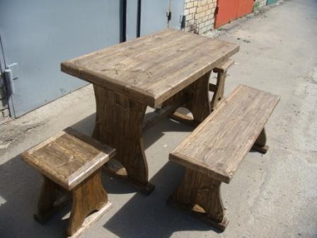 Мебель из состаренного дерева для дачи (Волжский)